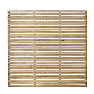Image of Forest 6 x 6ft Contemporary Single Slatted Fence Panel - Pack of 5