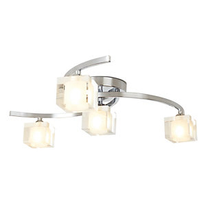 Image of Village at Home Ice 4 Light Chrome Ceiling Fitting - 25W G9