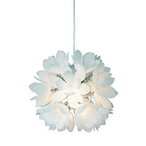Image of Village at Home Bath Pendant Acrylic Petals Ceiling Light - 60W E27