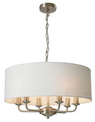 Wickes grantham 6 light ceiling fitting nickel wickes aloadofball Images
