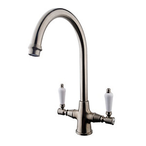 Image of Wickes Zores Monobloc Kitchen Sink Mixer Tap - Brushed Chrome
