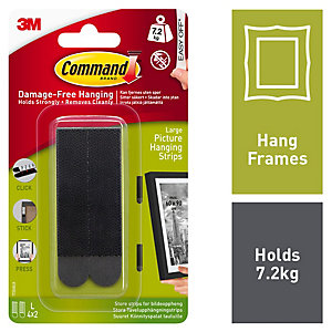 Command Large Picture Hanging Strips - Black Pack of 4
