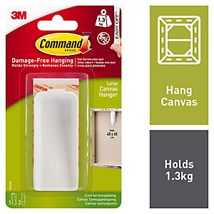 Command Large Canvas Picture Hanger - White