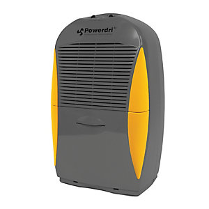 Image of Ebac Powerdri XL Dehumidifier with Manual Humidistat - 21L Grey & Yellow