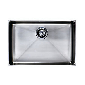 Onyx Max Undermount 1 Bowl Brushed Stainless Steel Kitchen Sink
