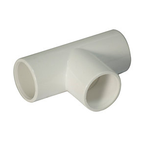 FloPlast OS13W Overflow System Equal Tee - White 21.5mm