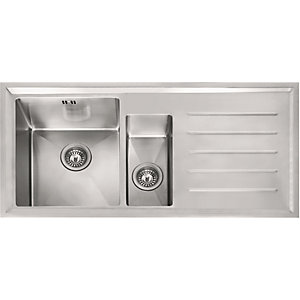 Image of Franke Winsford 1.5 Bowl Right Hand Drainer Kitchen Sink - Stainless Steel