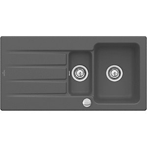 Villeroy & Boch Architectura 1.5 Bowl Ceramic Kitchen Sink - Graphite Grey