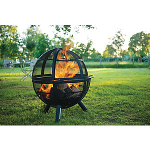 Landman Ball of Fire Fire Pit - Black