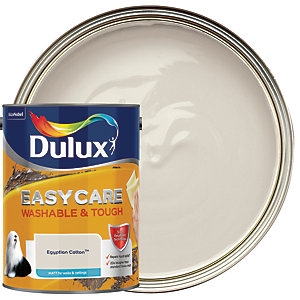 Dulux Easycare Washable & Tough - Egyptian Cotton - Matt Emulsion Paint 5L