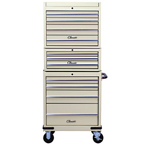 Image of Hilka Classic 11 Drawer Mobile Combination Unit - Cream