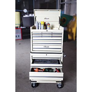 Image of Hilka Classic 13 Drawer Mobile Combination Unit - Cream