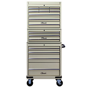 Image of Hilka Classic 16 Drawer Mobile Combination Unit - Cream