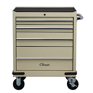 Image of Hilka Classic 4 Drawer Tool Trolley - Cream