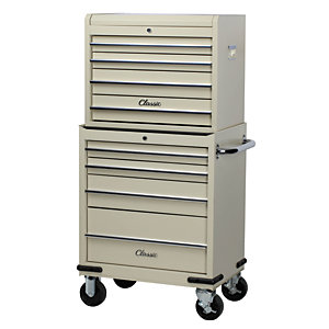 Image of Hilka Classic 8 Drawer Mobile Combination Unit - Cream