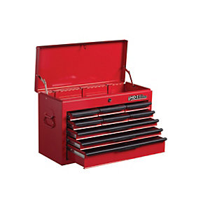 Hilka Heavy Duty Tool Chest with 270 Piece Mechanics Tool Kit - Red