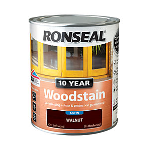 Image of Ronseal 10 Year Woodstain - Walnut 750ml