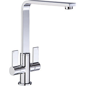 Image of Abode Quantic Dual Lever Monobloc Sink Mixer Tap - Chrome