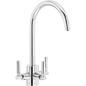 Image of Abode Orcus Aquifier Dual Lever Filter Sink Tap - Chrome