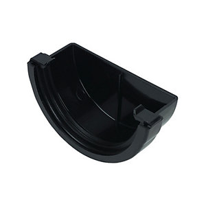 FloPlast 76mm Miniflo Gutter External Stopend - Black