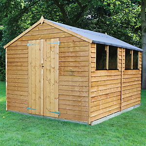 Image of Mercia 12 x 8 ft Double Door Timber Overlap Apex Shed