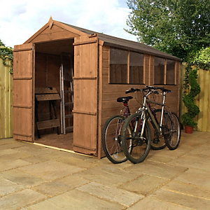 Image of Mercia 10 x 6 ft Timber Shiplap Apex Shed with Assembly