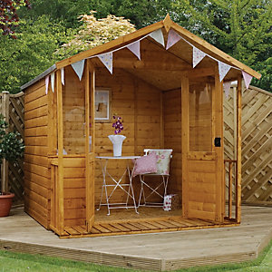 Mercia 7 x 7 ft Traditional Double Door Summerhouse with Veranda