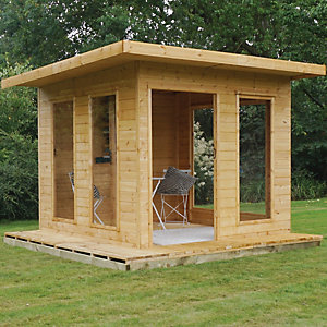Image of Mercia 10 x 10 ft Modern Cube Summerhouse with Bi-Fold Doors with Assembly