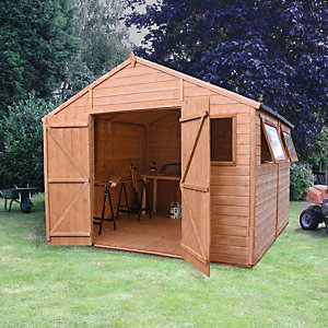 Image of Mercia 10 x 10 ft Premium Shiplap Apex Garden Workshop with Assembly