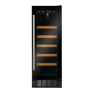 Image of CDA 300mm Black Glass Slimline Wine Cooler FWC304BL