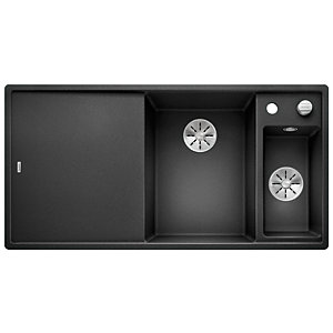 Blanco Axia 1.5 Bowl Silgranit Inset Kitchen Sink - Black