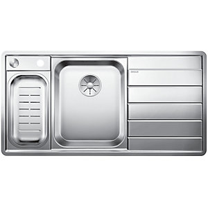 Image of Blanco Axis 1.5 Bowl Right Hand Stainless Steel Kitchen Sink - Stainless Steel
