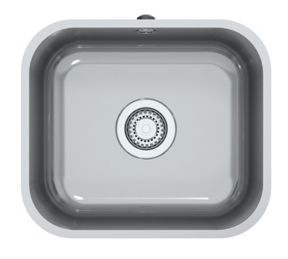 Perth Square 1 Bowl Inset Kitchen Sink - Stainless Steel