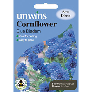 Image of Unwins Blue Diadem Cornflower Seeds