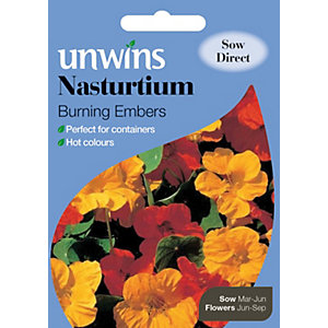Image of Unwins Burning Embers Nasturtium Seeds