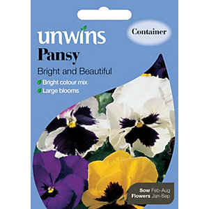 Image of Unwins Bright And Beautiful Pansy Seeds