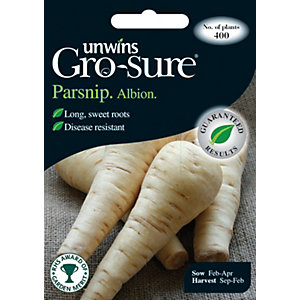 Image of Unwins Albion F1 Parsnip Seeds
