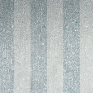 Boutique Water Silk Stripe Teal/Silver Decorative Wallpaper - 10m