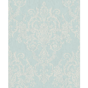 Superfresco Easy Victorian Damask Duck Egg Decorative Wallpaper - 10m