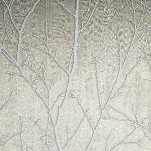 Boutique Water Silk Sprig Taupe Decorative Wallpaper - 10m