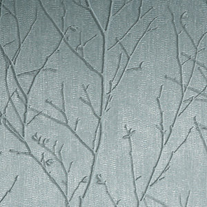 Boutique Water Silk Sprig Teal Decorative Wallpaper - 10m