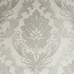 Boutique Corsetto Damask Ivory Decorative Wallpaper - 10m