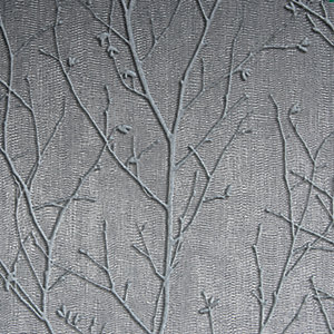 Boutique Water Silk Sprig Charcoal Decorative Wallpaper - 10m