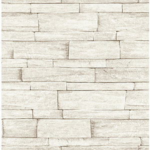Superfresco Easy Ledgestone Beige Decorative Wallpaper - 10m