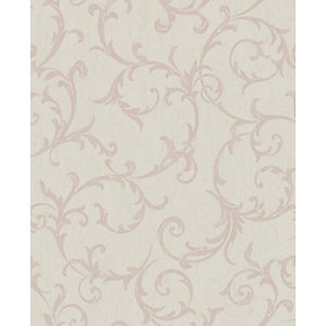 Image of Superfresco Easy Empress Scroll Beige Decorative Wallpaper - 10m