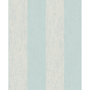 Superfresco Easy Mercury Stripe Duck Egg Decorative Wallpaper - 10m