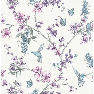 Superfresco Easy Simplicity Pearl/Lilac Decorative Wallpaper - 10m