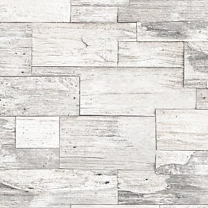 Superfresco Easy Shiplap Wood Decorative Wallpaper - 10m