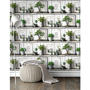 Superfresco Easy Etagere Fuji Decorative Wallpaper - 10m