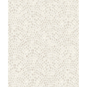 Contour Trajan Natural Decorative Wallpaper - 10m